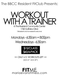 BBCC Workout with Trainer Flyer